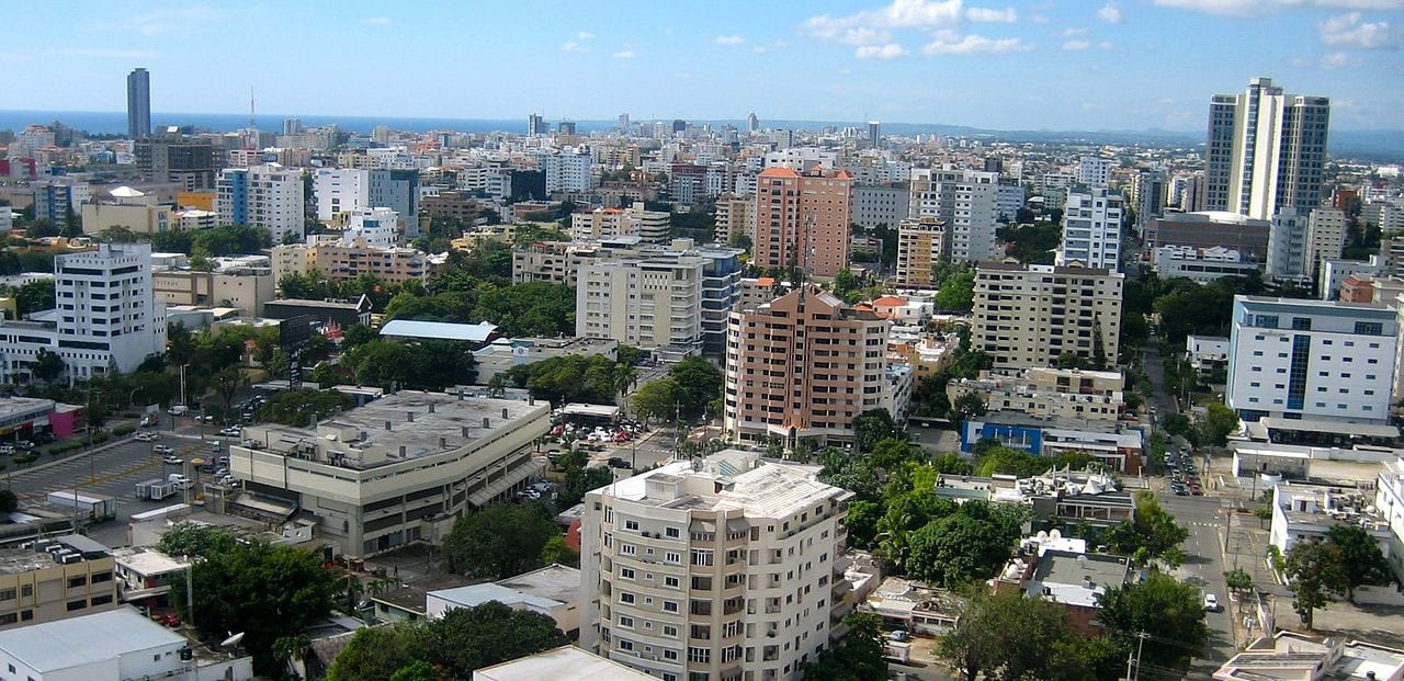 small apartment buildings in Santo Domingo