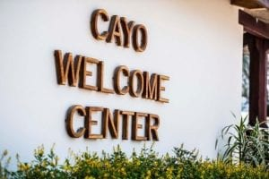 The Cayo Welcome center Will Greet You as You Arrive