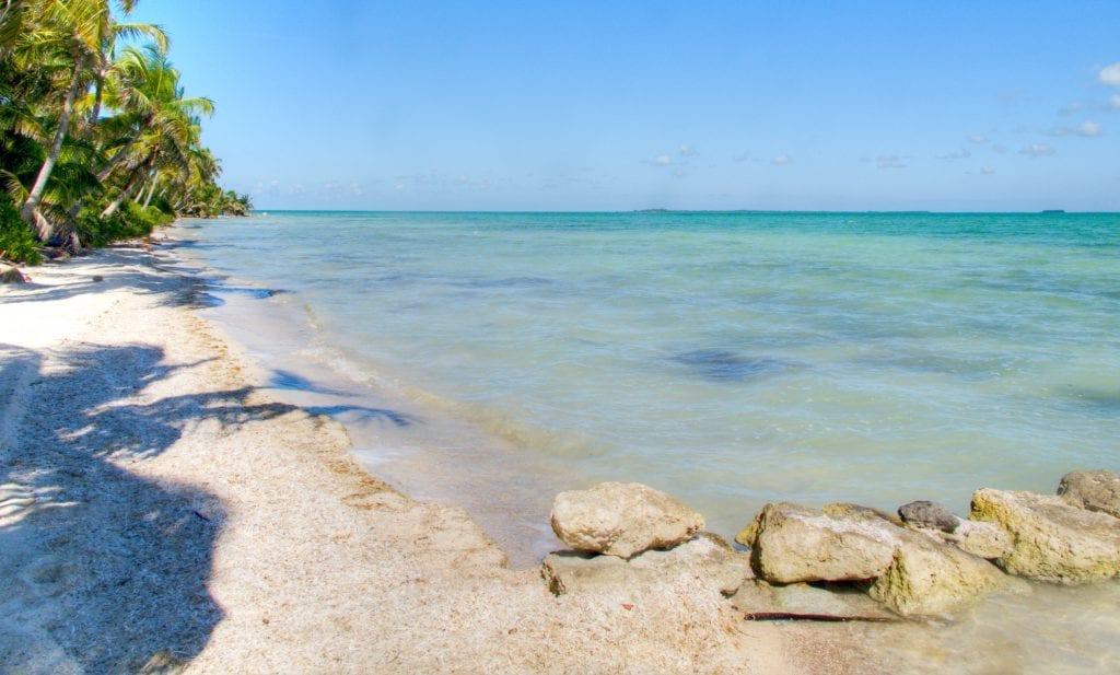 crystal clear waters of corozal beach
