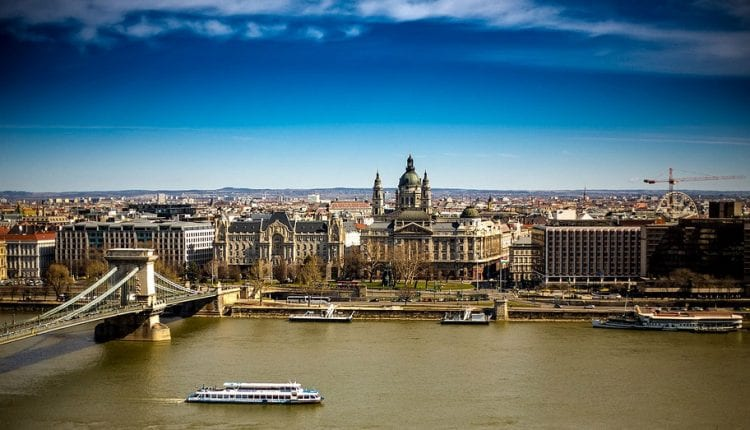 Budapest on the edge of the Danube River