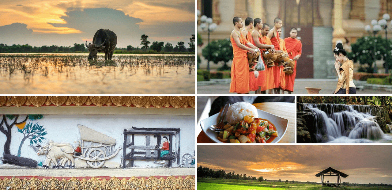 collage of images of laos