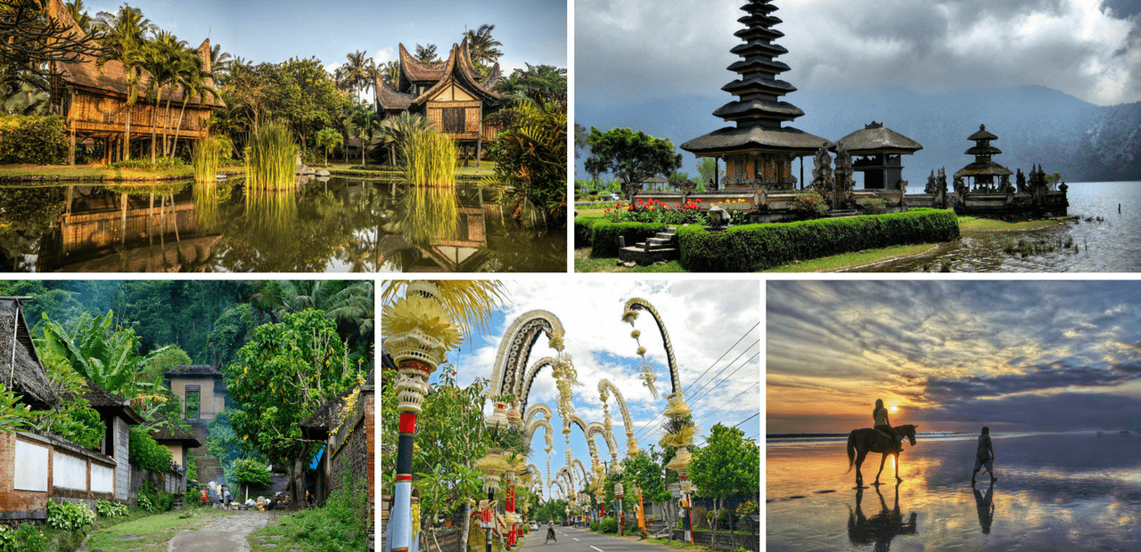 collage of images from Indonesia