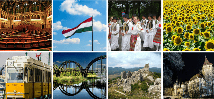 Collage of images of Hungary