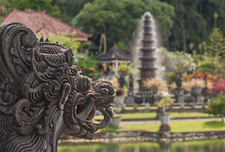 stone statues at an Indonesian temple