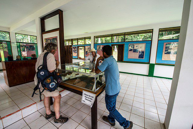 people visiting the Mayan museum in Cayo