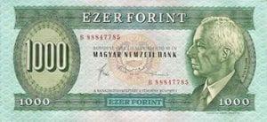 a 1000 forint bill