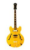 a yellow electric guitar