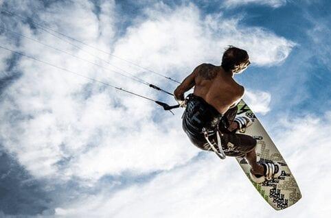 Go kite surfing