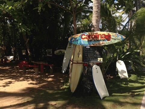 Take a surf lesson at the Carolina Surf School on Playa Bonita