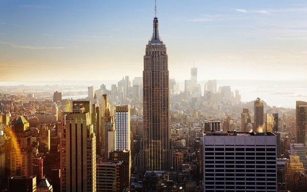 Empire State Building on a bright morning, New York