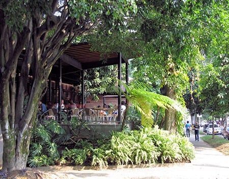 Laureles Cafe Sidewalk Colombia