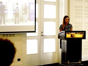 Sophia Titley speaking at conference