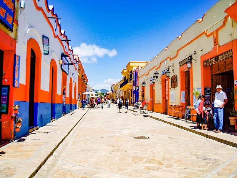 Street scene in San Cristobal