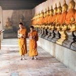 Laotian monks in a monastery