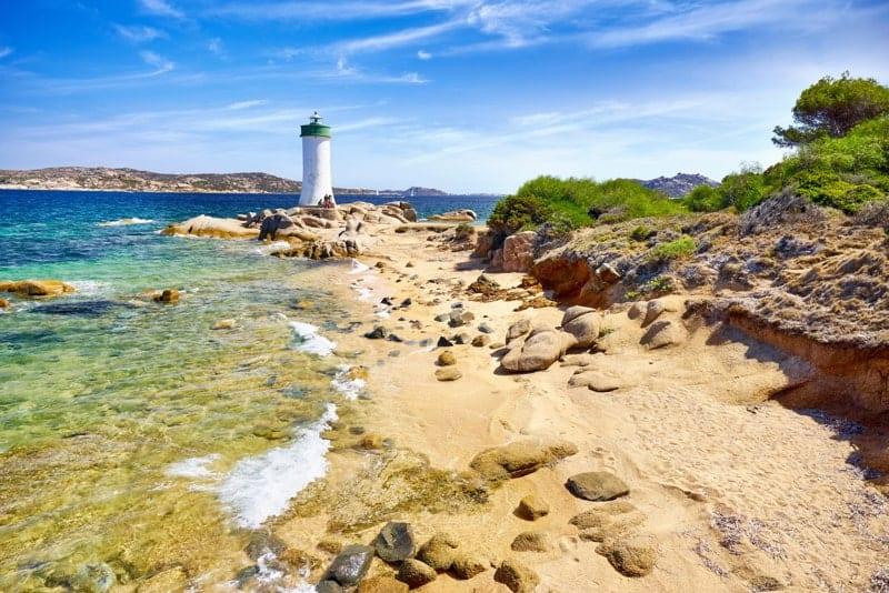 Sardinia Island - Lighthouse, Palau Beach, Italy.