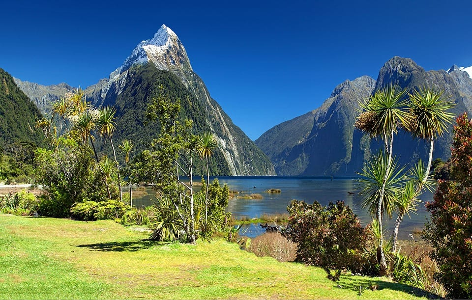 Mitre Peak in Milford Sound, New Zealand