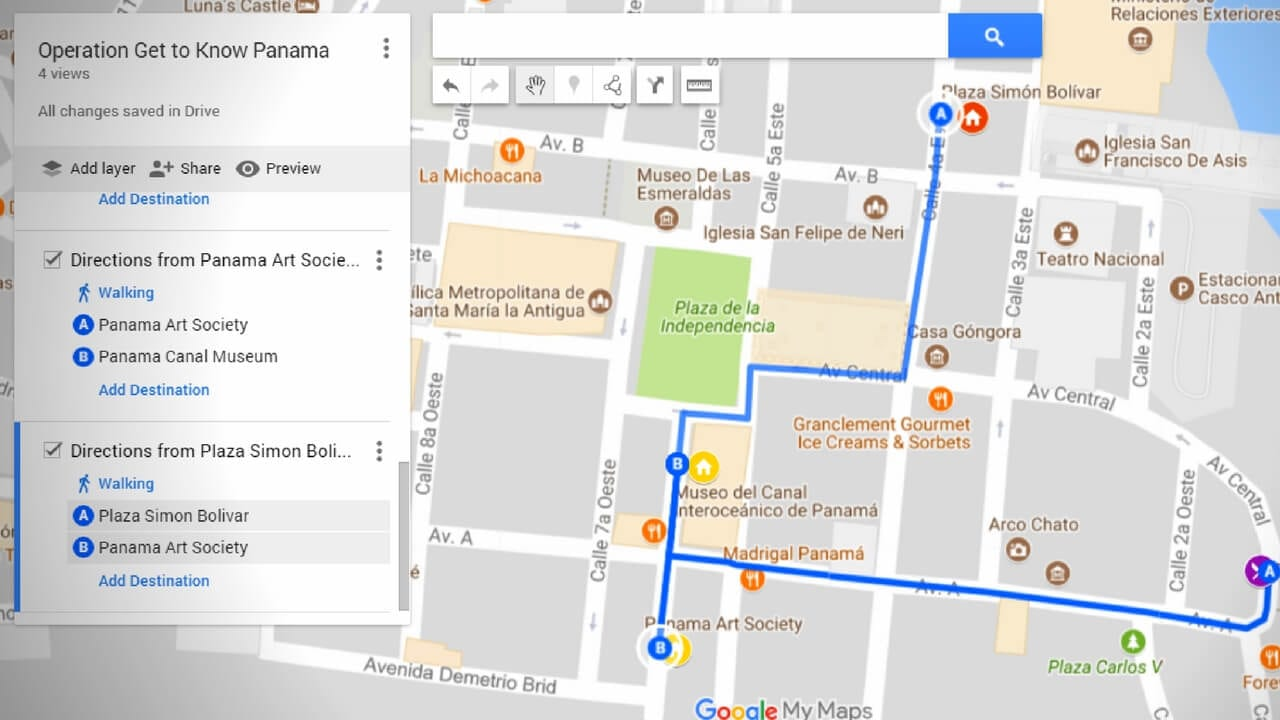 Getting Around Panama Made Easier With Google's MyMaps