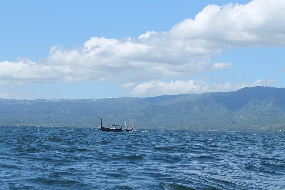 Tagaytay ship on the ocean