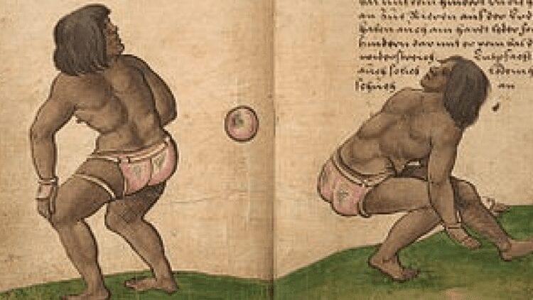 Two people playing Ulama