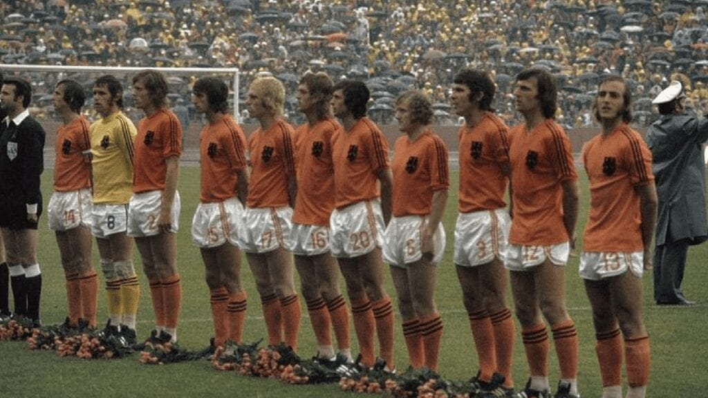 The Netherlands team before 1974 World Cup Final