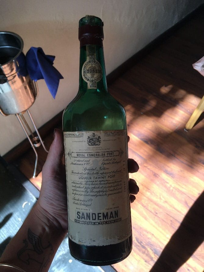 A very old bottle of port