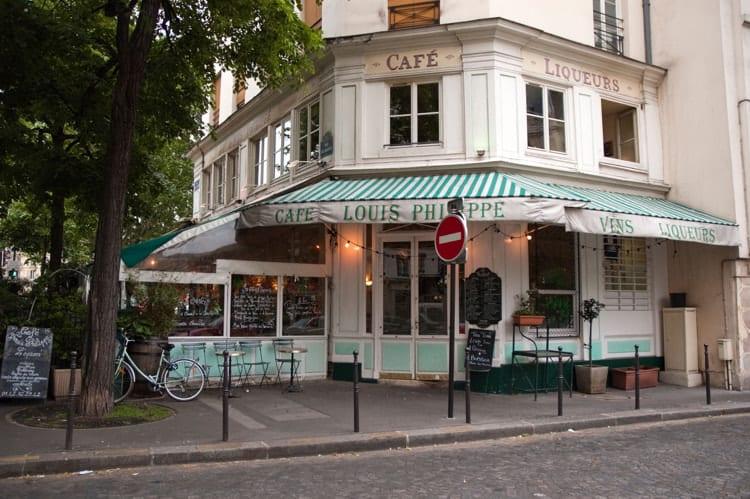 """Cafe """"Louis Philippe"""", Paris, France."""