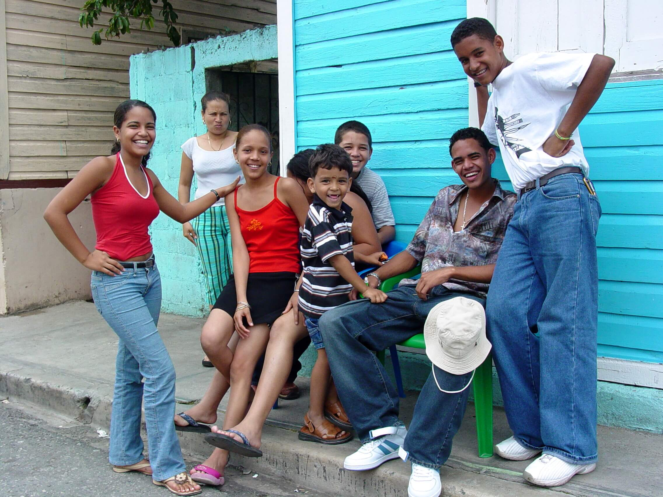 Friendly locals in the streets of the Dominican Republic.