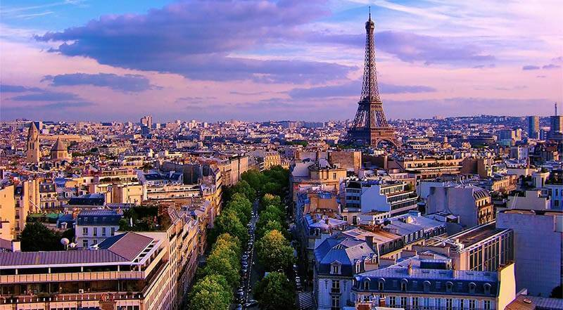 Paris France at Dawn small. One of the best places to buy real estate overseas