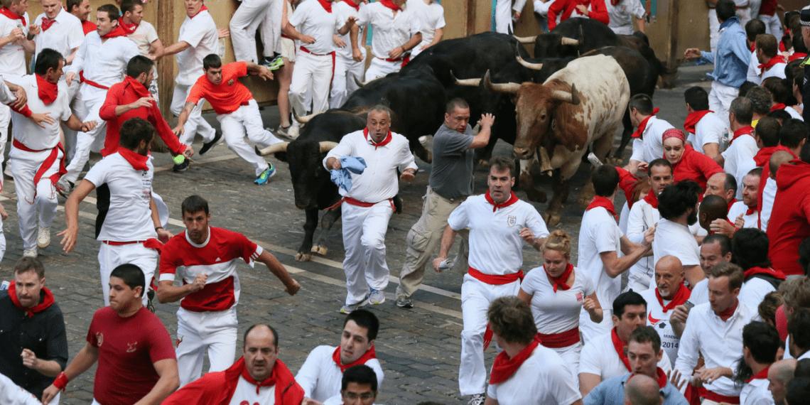 San Ferm 237 N Festival Running Of The Bulls In Pamplona Spain