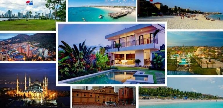 Collage with pictures of the Best Places To Buy Property Overseas for 2019