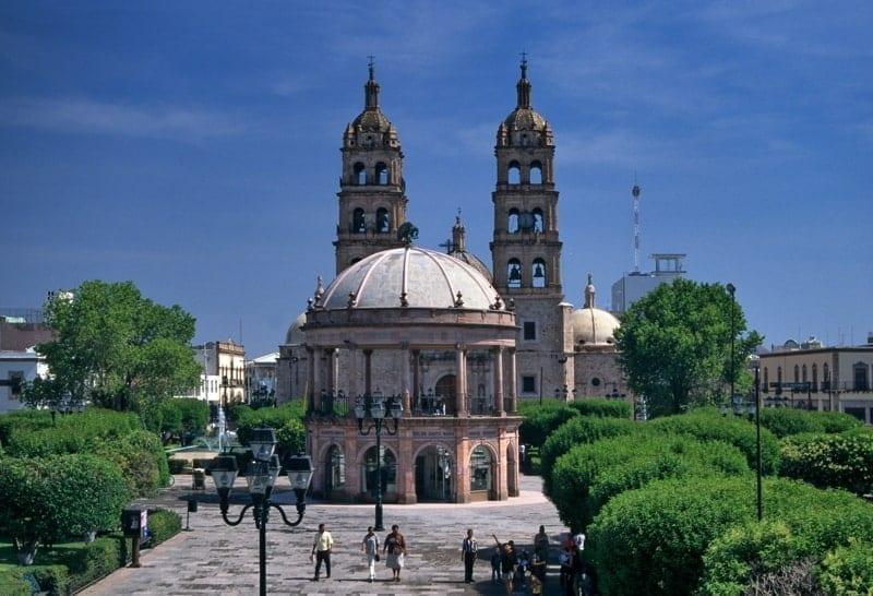 Cathedral at Plaza de Armas, Durango, Mexico.