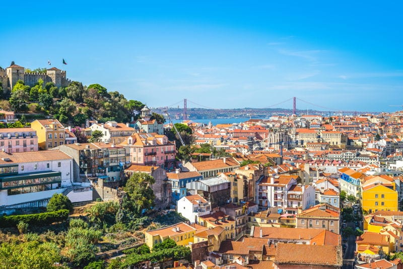 Lisbon view across the city