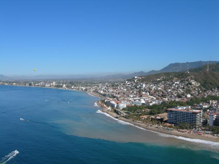 sky view of the seaside in puerto vallarta, mexico. One of the best places to buy real estate overseas