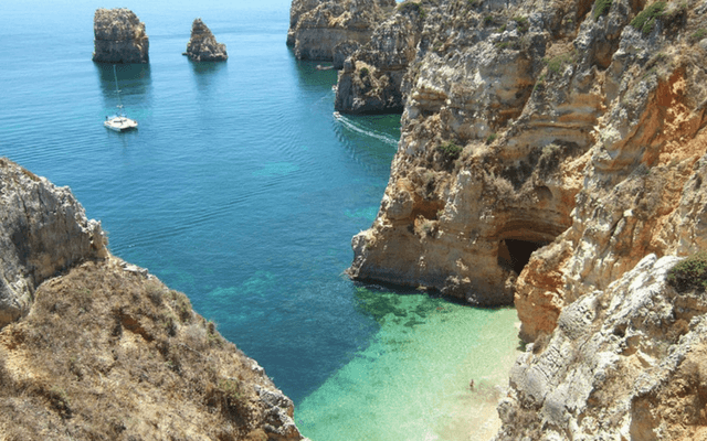 A cove in Portugal