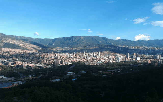 Medellín view from a distance