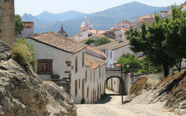 A quiet street in Alentejo, Portugal