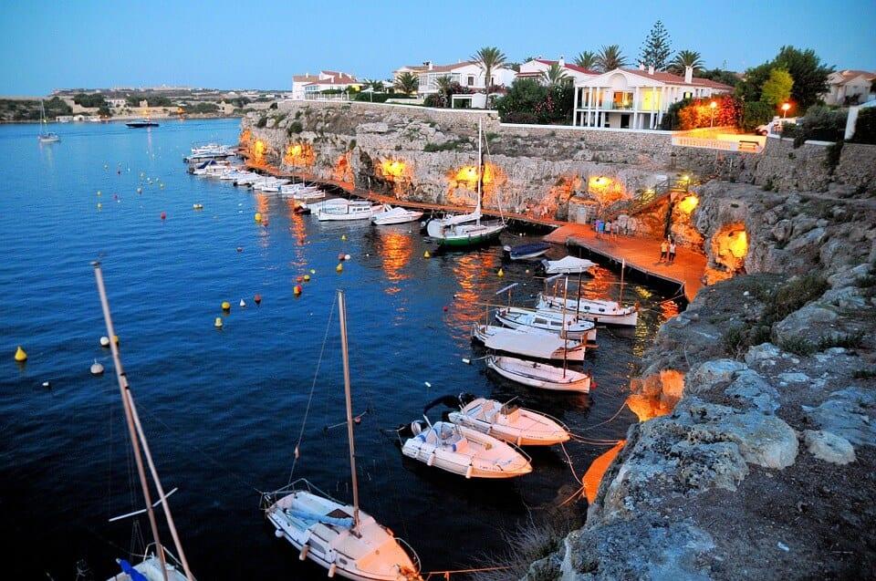 Spain harbour menorca