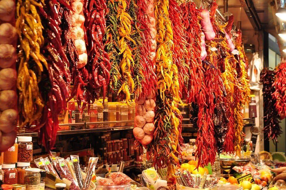 Spice market in Spain