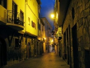 Castro streets at night, Spain