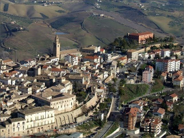 citta sant'angelo aerial view