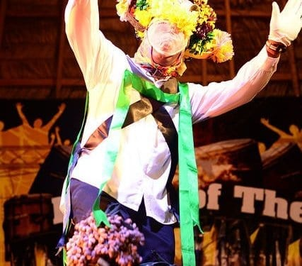 Jankunu dancer