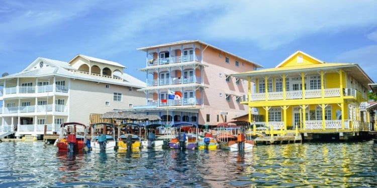 colorful houses in bocas del toro