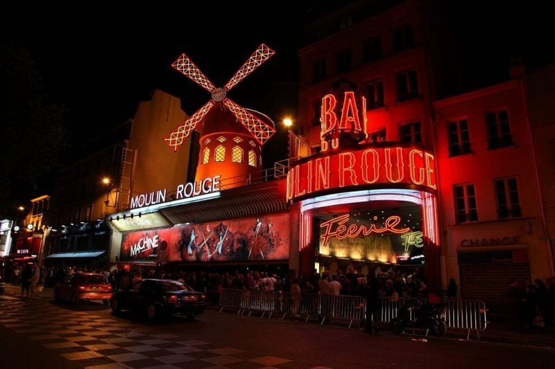 Moulin Rouge, on the Boulevard de Clichy.