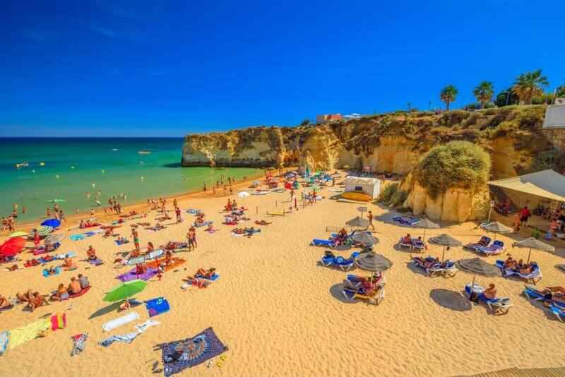 a beach in the algarve