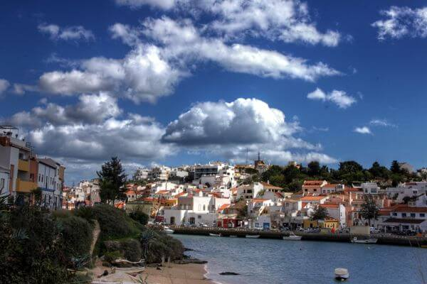ferragudo quiet town by the water in portugal