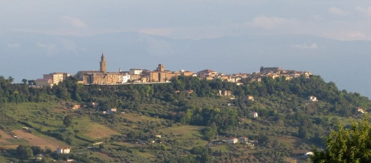 citta sant angelo view of traditional italian buildings and out across the mountains