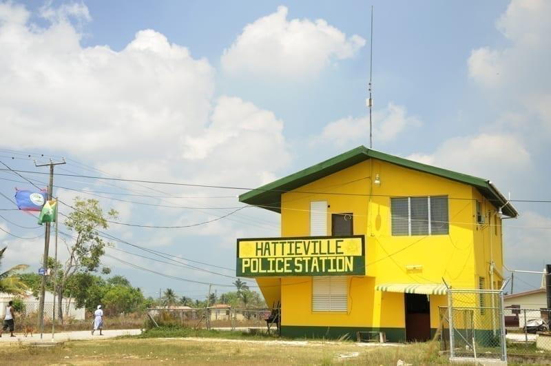 The police station at Hattieville, Belize.