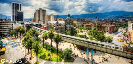 medellin colombia metro and square