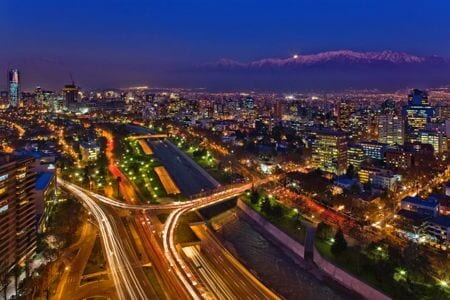 santiago chile night view