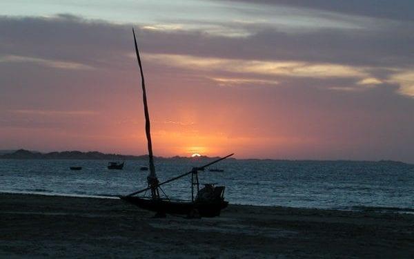 Sunset in the seas at fleixeiras northeast brazil